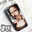 【メール便送料無料】iphoneケース アート モナリザ おもしろい 面白い 可愛い かわいい おし……