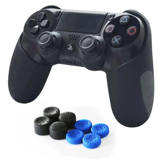 PS4 DUAL SHOCK4対応 FPSアシストキャップ&コントローラーカバー グリップカバー