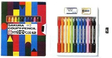 サクラクーピーペンシル12色ソフトケース入り