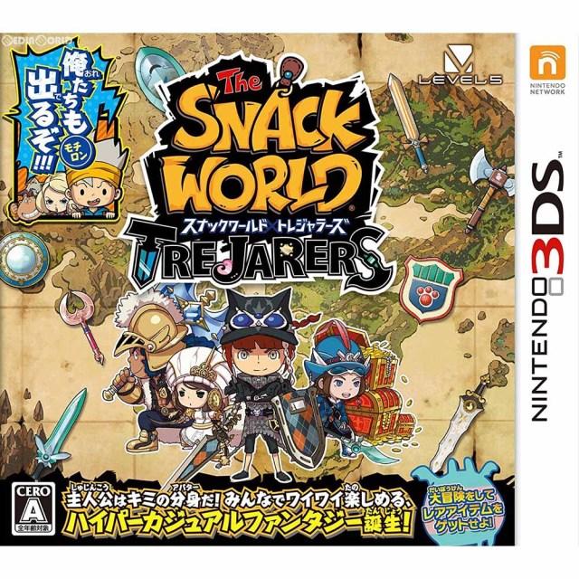 【新品即納】[3DS]数量限定特典付(限定ジャラ「クリスタルソードα」) スナックワールド トレジャラーズ(20170810)