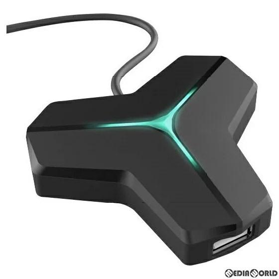 【予約前日発送】[ACC][Switch]CYBER・マウス&キーボード変換アダプター(SWITCH/PS4用)(スイッチ/PS4用) ブラック サイバーガジェット(CY-NSP4MKCA-BK)(2020年3月下旬)