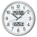 電波掛時計 KX383S 1個 セイコー 【セイコ 電波アナログ掛時計 KX383S シルバ】【メーカー直送/代金引換決済不可】