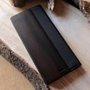 ■【5】【プレミアムモデル】手帳型木製ケース「Xperia 5 FLIPCASE(黒檀)」SO-01M SOV41 901S……