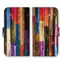全機種対応 手帳型 スマホケース SIMフリー対応 ウッド ウッドケース wood 木製 木 カラフル ……