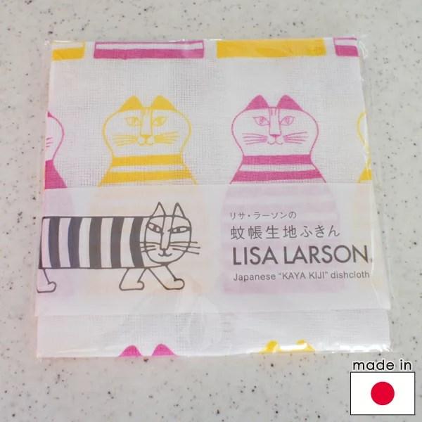 リサラーソン 蚊帳生地ふきん ミンミ/ピンク【店頭受取も可 吹田】