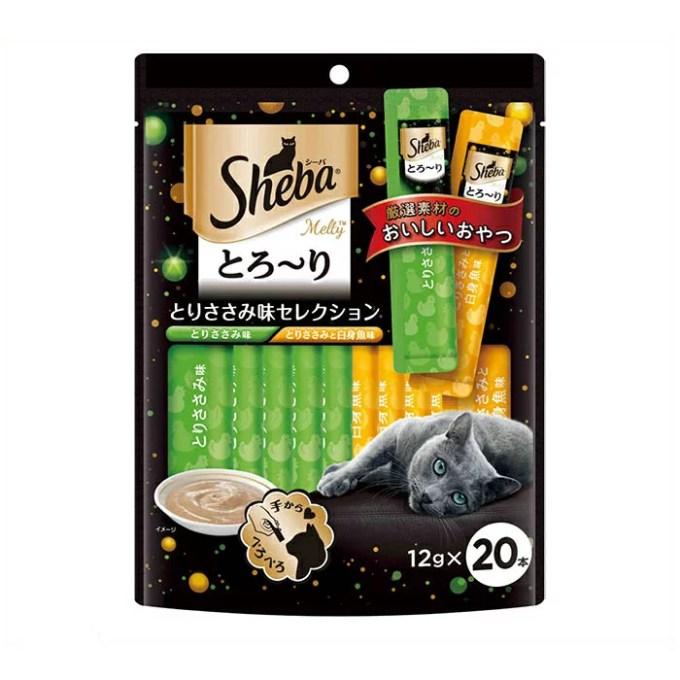 【月間お買得】 マースジャパン シーバ とろ〜り メルティ とりささみ味セレクション 12g×20袋