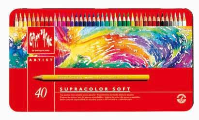 【エントリーでポイント10倍】CARAND'ACHE SUPRACOLOR SOFT 水溶性 色鉛筆 スプラカラー ソフト 40色セット