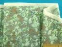 綿ソフトローン生地花・グレー系×グリン(110cm幅 2m)
