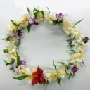 フラダンス レイ 首飾り ハワイアン プルメリア デンドロビウム L-100 12045