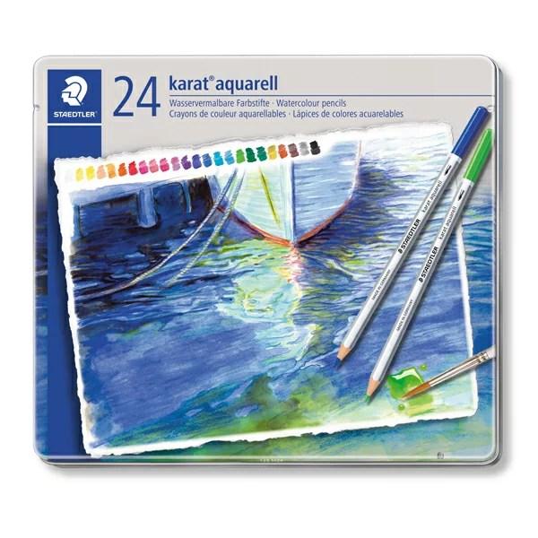 STAEDTLER(ステッドラー)カラト アクェレル 125 水彩色鉛筆 24色セット125M24 (4800)