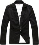 [シャルフィール] メンズ ジャケット テーラード ブレザー 上着 アウター 長袖 ウェア(ブラック, L)