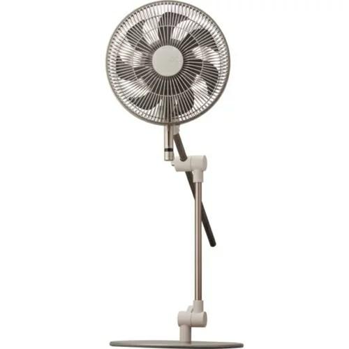 【長期保証付】ドウシシャ FKLU-232D-DBE(ダークベージュ) 23cm DC リビング扇風機 カモメファン リモコン付