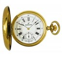 AERO 懐中時計 金色ケース 機械式手巻 ポケットウオッチ 提げ時計 メカニカル スイス製 ゴールドウオッチ 送料ん無料