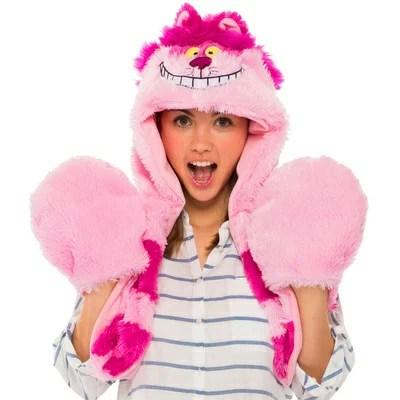 チシャ猫ムービングモコモコフード 【 コスプレ 衣装 ハロウィン パーティーグッズ かぶりもの 仮装 ディズニー 童話