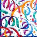 お誕生日 紙ナプキン パーティーストリーマー ランチョンナプキン 33cm角 8枚入り アメリカ製 パーティーグッズ クラッカー ストリーマ..
