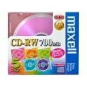 maxell 1〜4倍速対応 データ用CD-RWメディア(700MB・5枚) CDRW80MIX1P5S【取り寄せ品キャンセル返品不可、割引不可】
