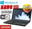 中古パソコン Lenovo ThinkPad Edge E530c /Celeron Dualcore 1005M(1.9G) /メモリ8GB /SSD240GB(新品) /DVDRWマルチ /テンキ− /15.6型..