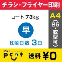 900枚■【チラシ印刷・フライヤー印刷】A4サイズ以下 データ入稿(オリジナル/激安) A4(B5)コート73kg/納期3日/両面フルカラー