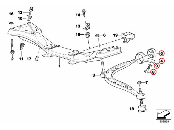【楽天市場】MEYLE製 BMW Z3 ロードスター コントロールアーム/ロアアームブッシュ左右 ブラケット付き