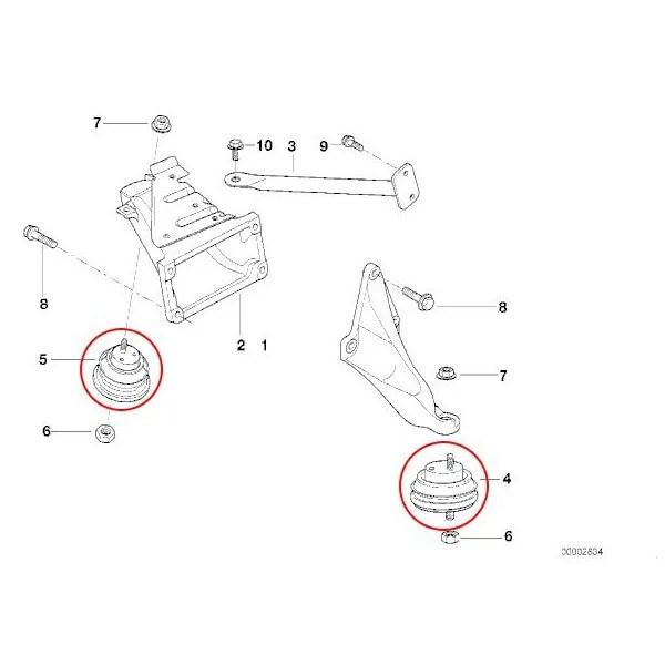 【楽天市場】MAPCO製 BMW E39 エンジンマウント左右 2個 22116754608 33869 520i