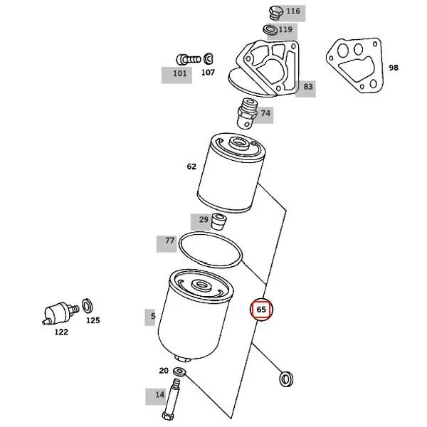 【楽天市場】ベンツ ミディアムクラス W123 エンジンオイルフィルター/オイルエレメント M116 M117