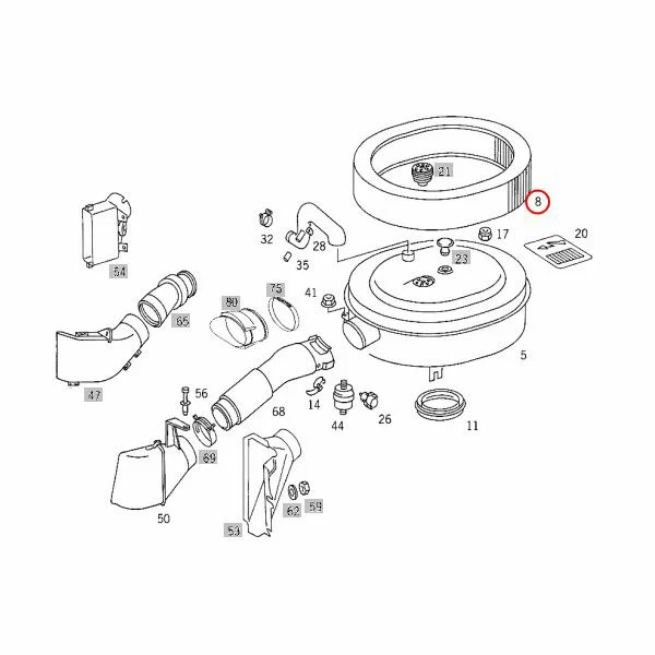 【楽天市場】ベンツ エアフィルター/エアエレメント M103 直6エンジン W124 Eクラス OEM