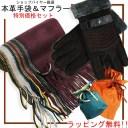 男性向け 手袋 マフラー ラッピングセット メンズ ビジネス 本革手袋 通勤 通学 男性 福袋