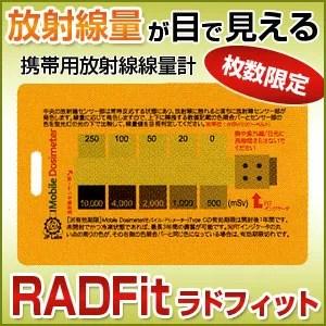 ラドフィット RADFit 携帯型放射線累積線量計 Type C XTSafety 放射能測定器 カード 日本正規流通品【ポイント倍】【あす楽対応】