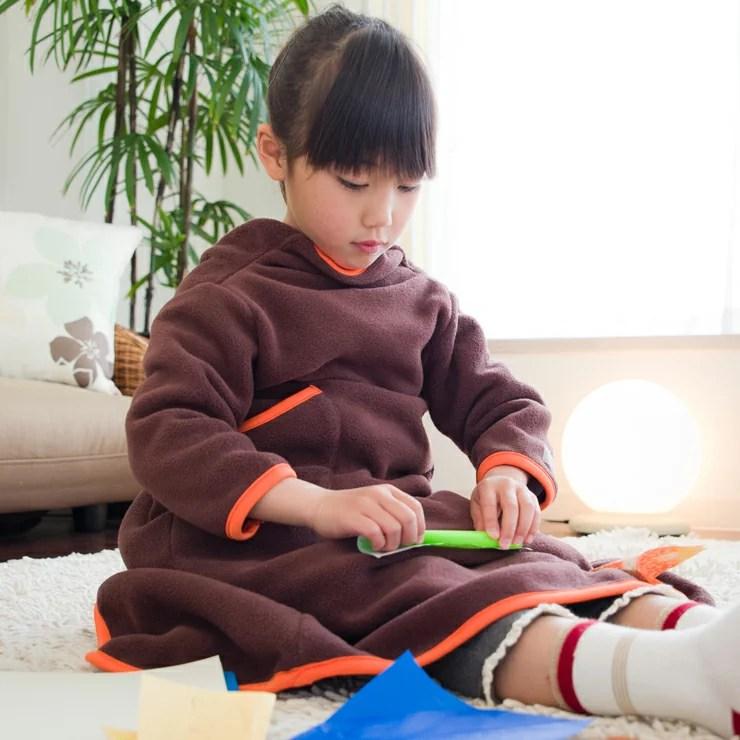 着る毛布 ヌックミィ 着るブランケット ブランケット 毛布 フリース ひざ掛け NuKME(ヌックミィ) ガウンケット ミニサイズ 着丈85cm