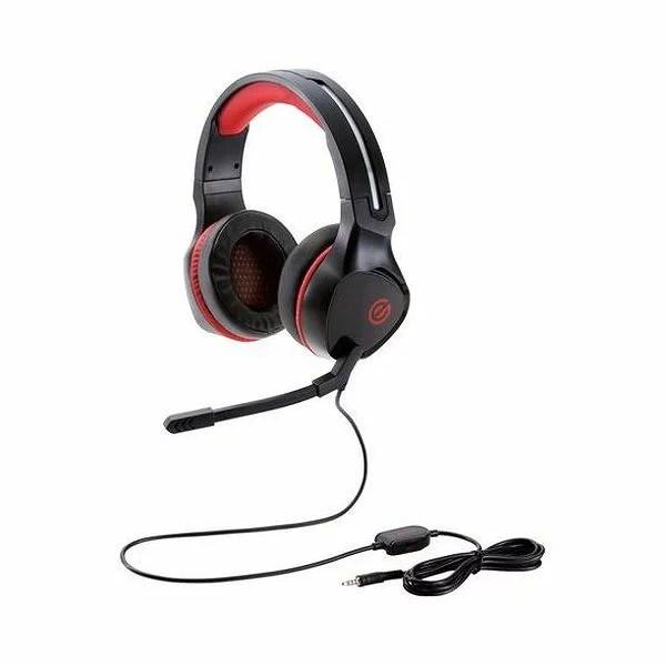 エレコム ゲーミングヘッドセット 両耳オーバーヘッド 4極ミニプラグ 50mmドライバ 極厚イヤーパッド コントローラ HS-G01BK(代引不可)