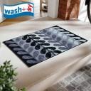 玄関マット wash+dry F014A Nuri 50x75cm 柄物 おしゃれ 滑り止めラバーつき(代引不可)【送料無料】