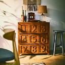 チェスト 幅75×奥行40×高さ80 天然木 チーク ラッカー塗装(代引不可)【送料無料】