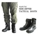 BLACK TAC( ブラックタック) タクティカルサイドジッパー付きブーツ FB4YN 10w(28.0cm)