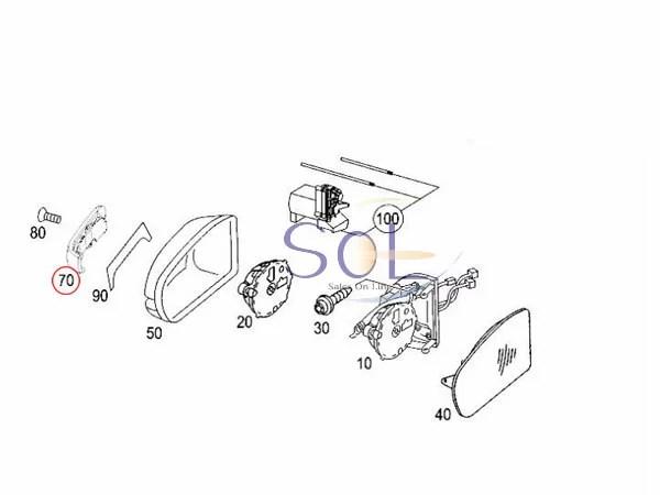 【楽天市場】ベンツ W203 ドアミラーウインカーレンズ 左右セット 後期用(前期取付可能) C180 C200
