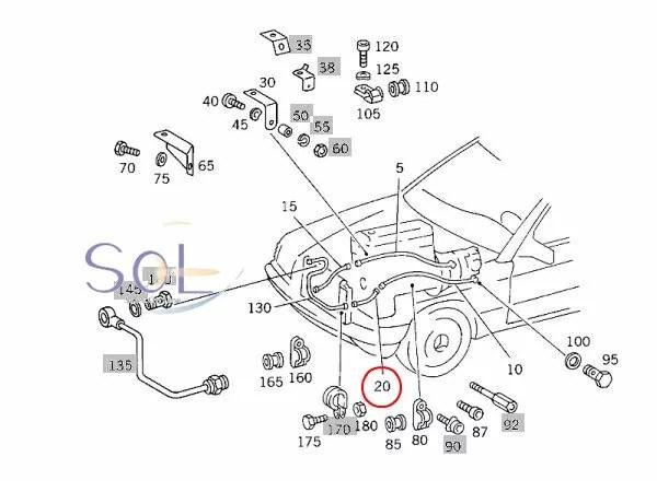【楽天市場】ベンツ W201 W202 W203 W204 ATオイルクーラーホース 190E C200 C220