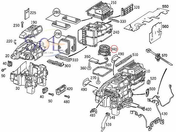 【楽天市場】SOL】ベンツ W220 W215 左ハンドル車 エアコン ブロアモーター HELLA S320