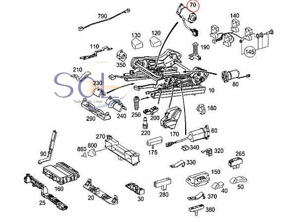 【楽天市場】ベンツ W203 W209 パワーシート コントロールモーター 純正品 C180 C200 C230