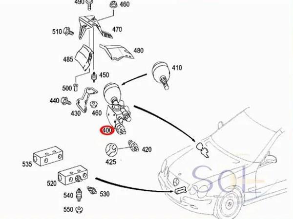 【楽天市場】SOL】ベンツ W215 W220 R230 ABC プレッシャーバルブ 純正品 CL500 CL600