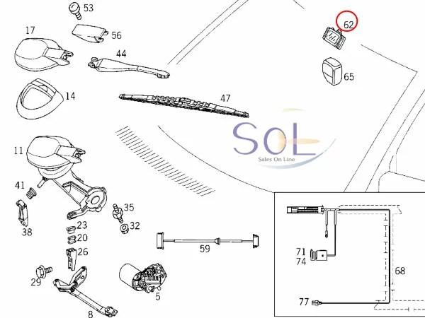 【楽天市場】SOL】ベンツ R129 W140 W202 W203 W220 レインセンサー 純正品 SL320