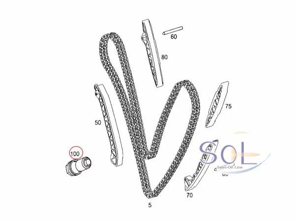 【楽天市場】SOL】ベンツ R171 R230 W164 W204 カムシャフト チェーンテンショナー 純正品