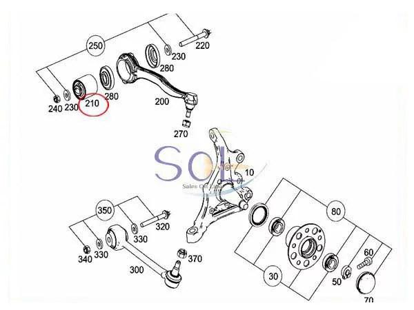 【楽天市場】ベンツ W203 W204 フロント ラジアスアーム スラストアーム ラバーブッシュ C180 C200