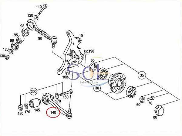 【楽天市場】ベンツ W203 フロント ロアアーム(コントロールアーム) 左右セット C180 C200 C230