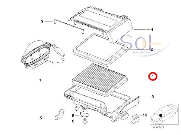 【楽天市場】BMW E39 エアコン マイクロフィルター(チャコール キャニスターフィルター) 2枚セット 525i