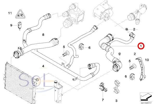 【楽天市場】BMW E46 ラジエーター ラジエター アッパーホース 318i 17127520668:欧州車パーツ