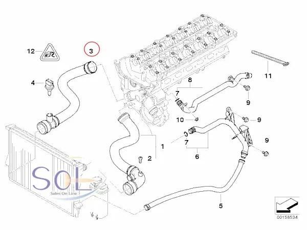 【楽天市場】BMW E46 ラジエーター ラジエター ロアホース ウォーターホース 320i 323i 325i
