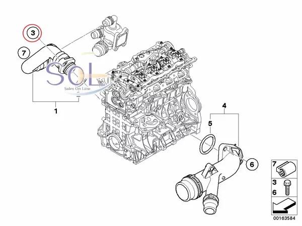 【楽天市場】BMW E82 E87 E88 E84 X1 E90 E91 E92 クーラントホース (ヒーターホース