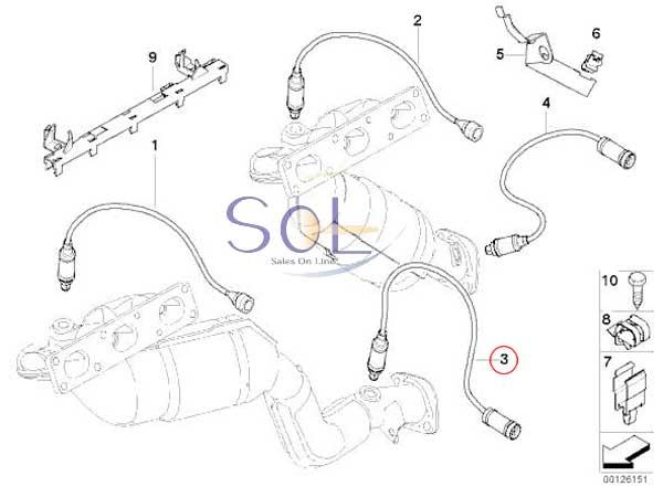 【楽天市場】BMW E46 E53 X5 Z3 ラムダセンサー O2センサー 320i 323i 325i 328i