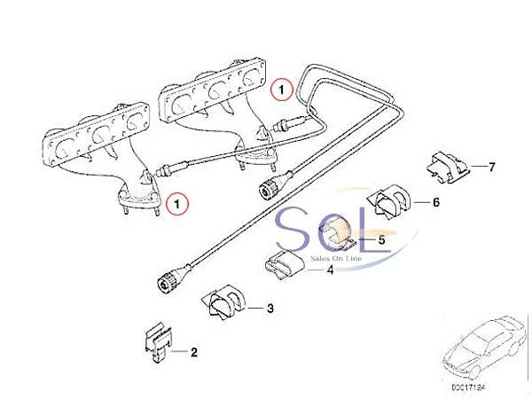 【楽天市場】BMW E46 E39 Z3 E85 Z4 ラムダコントロールセンサー(O2センサー) BOSCH