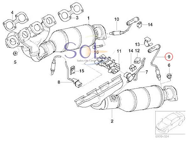 【楽天市場】BMW E60 E61 E63 E64 E65 E66 ラムダセンサー O2センサー 545i