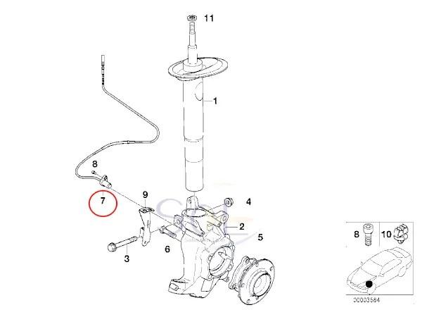 【楽天市場】BMW E39 フロント ABSセンサー(スピードセンサー) 左右共通 525i 528i 530i